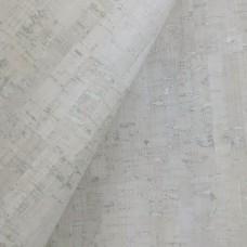 "White rustic Portuguese cork fabric, Printed pattern 68x50cm / 27.50""x20"","