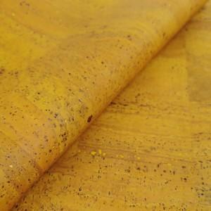 Cork leather - Portuguese cork fabric yellow