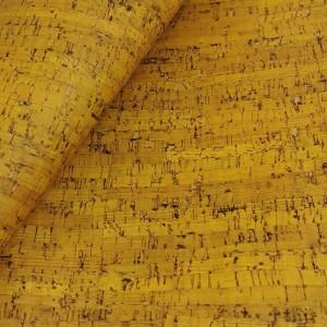 "Cork leather, green product, Portuguese cork fabric rustic yellow 68x50cm / 27.50""x20"""